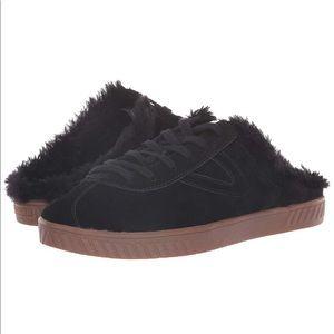 NEW Tretorn Cam2 Faux Fur Lined Sneaker Mule Sz 6